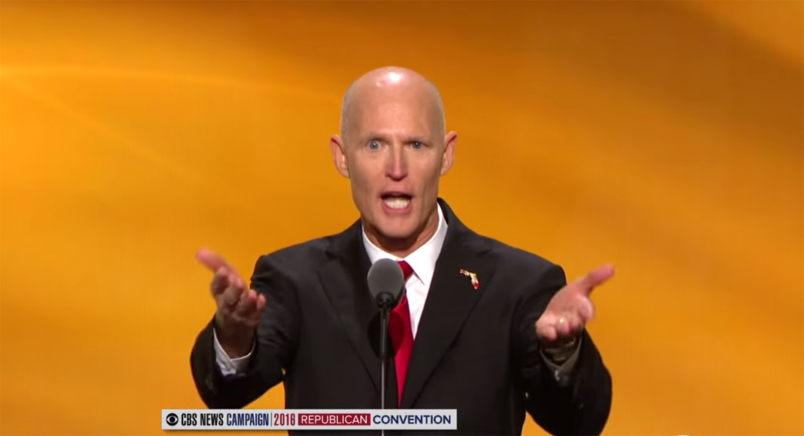Rick Scott Discussed Orlando During His RNC Speech, But Didn't Mention The LGBT Community Or Guns